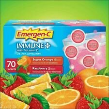 Emergen-C Vitamin C Immune Plus Dietary Supplement Flavored Drink mix 70 packet