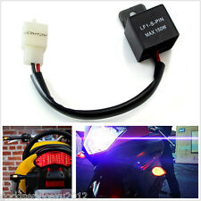Black 150W Motorcycle 2-Pin Electronic LED LED Flasher Relay FIX Hyper Flash Kit