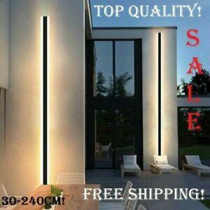 Modern Waterproof Outdoor Long Strip LED wall lamp Aluminum Light Garden Porch