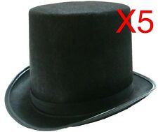 5 BLACK TOP HAT COSTUME MAGICIAN WEDDINGS ADULT DANCE MAD HATTER PARTY FORMAL