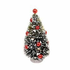 Philips 1ct Christmas LED Brush Tree Red Ornaments Battery Operated Warm White