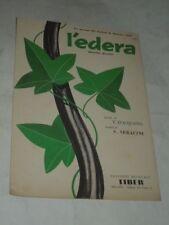 """SPARTITO MUSICALE DEL 1958 """"L'EDERA""""BEGUINE/BOLERO UN SUCCESSO DI SANREMO 1958"""
