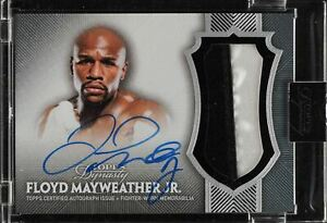 2017 Topps Dynasty Floyd Mayweather Jr. 2 color patch On Card Auto 4/10. GOAT.