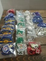 Miller Budweiser  Beads Necklaces Keychain Mixed Lot of 25 + New In Bags St Pats
