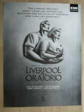PAUL McCARTNEY'S LIVERPOOL ORATORIO - ORIGINAL MUSIC ADVERT 30 X 22 CM WALL ART