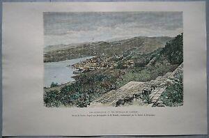 1891 Reclus print CASTRIES, SAINT LUCIA, LESSER ANTILLES (#73)