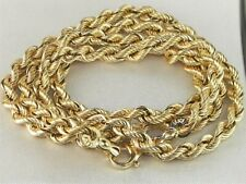 """14k Yellow Gold .585 Rope Style Chain 20"""" Fine Necklace"""