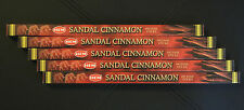 40 Sticks 5x 8g Boxes SANDAL CINNAMON Incense Sandalwood Spice home Insence HEM