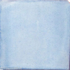 #S03) 90 MEXICAN TILES TALAVERA CERAMIC HANDMADE BLUE JEAN COLOR