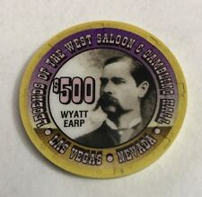 Legends Las Vegas $500 Wyatt Earp Casino Chip