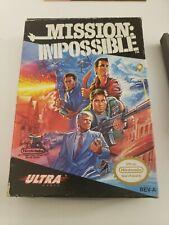 Mission Impossible / Nintendo NES / Complete In Box CIB / Excellent Condition