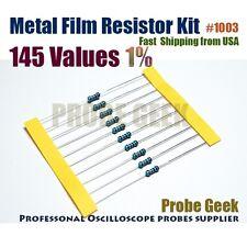 145  Values Total 2900pcs 20pcs Each 1% 1/4W Metal Film Resistor Assorted Kit