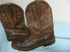New listing Vtg Mens Wolverine Square Toe Waterp. Cowboy Brown Boots Size 11.5