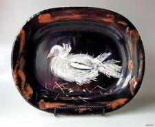 PABLO PICASSO Madoura Ceramic Plate Colombe sur lit de paille Ramié 79 LARGE