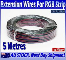 5 Metres Extension Wires For RGB 5050 LED Strip Lights 4 Pin Flexible Cable