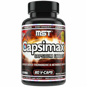 Capsimax Supplement 100mg V Capsules 60 Servings by MST - Clinically Dosed Weigh