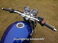 820 x 22 mm SILBER Spiegler Motorrad Lenker ABE Alu Super Bike Street Fighter