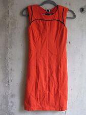 Fashion Star for Express 2 tangerine orange sheath dress cutout back