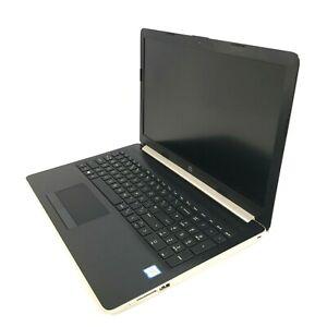"HP 15-da0518sa 15.6"" Gold Laptop Core i3-7100U @ 2.40GHz 4GB DDR4 512GB SSD"