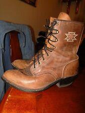 Vintage Leather Boots Women Western Roper Cowboy Sz.7
