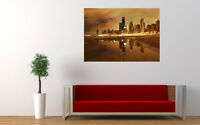 "CHICAGO SKYLINE NEW GIANT LARGE ART PRINT POSTER PICTURE WALL 33.1""x23.4"""