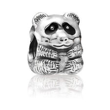 Authentic Pandora Retired  925 #790490en16 Panda Animal slide bead charm NWOT