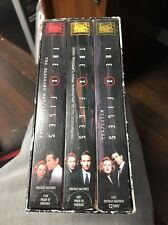Vintage Rare Fox Video The X-Files 6 Episodes On 3 VHS Box Set 1997