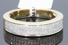 10K Oro Amarillo .46 Ct Diamante Hombre Alianza de Boda Anillo Compromiso Pinky