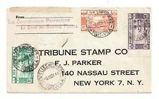 NEW HEBRIDES-CENSORED COVER TO NEW YORK EX-PORT VILA 9.8.1944-MIXED FRANKING