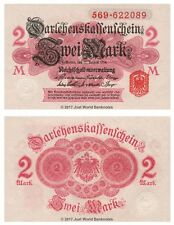 Germany 2 Mark 1914  P-53 Banknotes UNC