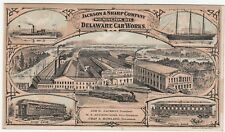 RARE Advertising Trade Card Jackson & Sharp Delaware Car Works Railroad 1875 RR