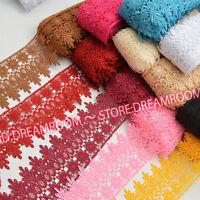 BF57 1 Yard, Crochet Lace Trim Ribbon Wedding Applique Dress Sewing Decor Craft