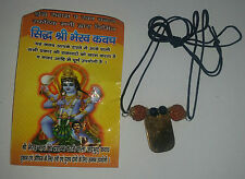 Lucky Hindu Talisman Protection Amulet Bhairav Kavach black Necklace Rudraksha