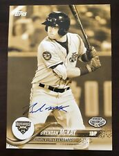 Brendan McKay Auto Signed jumbo 5x7 Topps 2018 Pro Debut Gold #'d 01/10 Rays