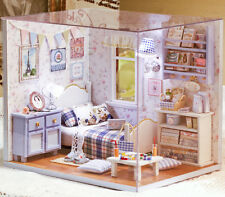 DIY Handcraft Miniature Project Wooden Dolls House Kit My Little Boys Bedroom 17