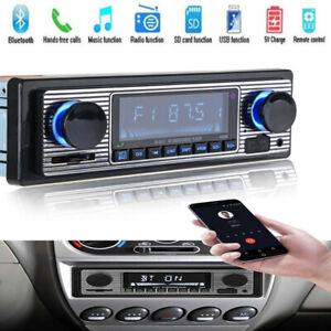 Bluetooth Car MP3 Player  FM Radio USB Classic Stereo Audio Receiver AUX HOT