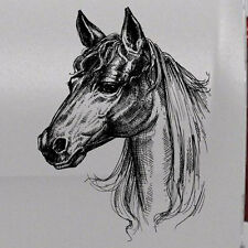 Horse Stable Drawn Window Graphic Hood Window Decal Vehicle Truck Car Vinyl SUV
