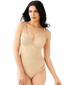Bali Ultra Light Body Briefer Shaper Firm Control Underwire Suit Stretch Lace