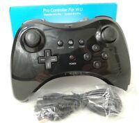 Wireless Pro Controller Gamepad für Original Nintendo Wii U | Schwarz | OVP