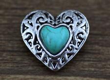 new Handmade DIY Turquoise chunk snap button fit nosa bracelet j361