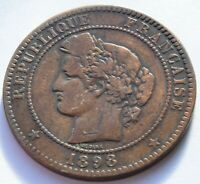 1898.A France CERES 10 CENTIMES coin