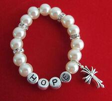 Personalized first communion pearl bracelet, confirmation gift, Baptism Bracelet