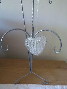 Glass Heart Xmas Tree Decortations 2 of 2