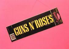 Guns N' Roses Official 1991 Vintage Bumper Sticker Not Patch Cd Shirt Uk Import