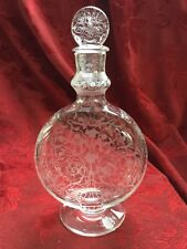 FLAWLESS Exquisite BACCARAT Moon Flask MICHELANGELO Crystal DECANTER & STOPPER