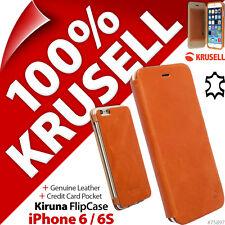 Krusell Kiruna AUTHENTIQUE CUIR étui fin à rabat Housse pour Apple iPhone 6 / 6S