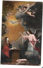 "VINTAGE SPANISH POSTCARD: ""THE ANNUNCIATION"" ~  B.E. MURILLO - MUSEUM OF SEVILLE"