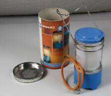 Tragbare Gaslampe - Camping GAZ Lampe ND - unben mit Orig. Pappe/Blechdose /S314