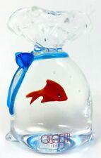 OSCAR ZANETTI MURANO ART GLASS FISH IN BAG Lot 190
