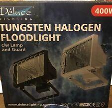 400W Halogen Floodlight BLACK Light Home Garden Workshop New FREE BULB & POSTAGE